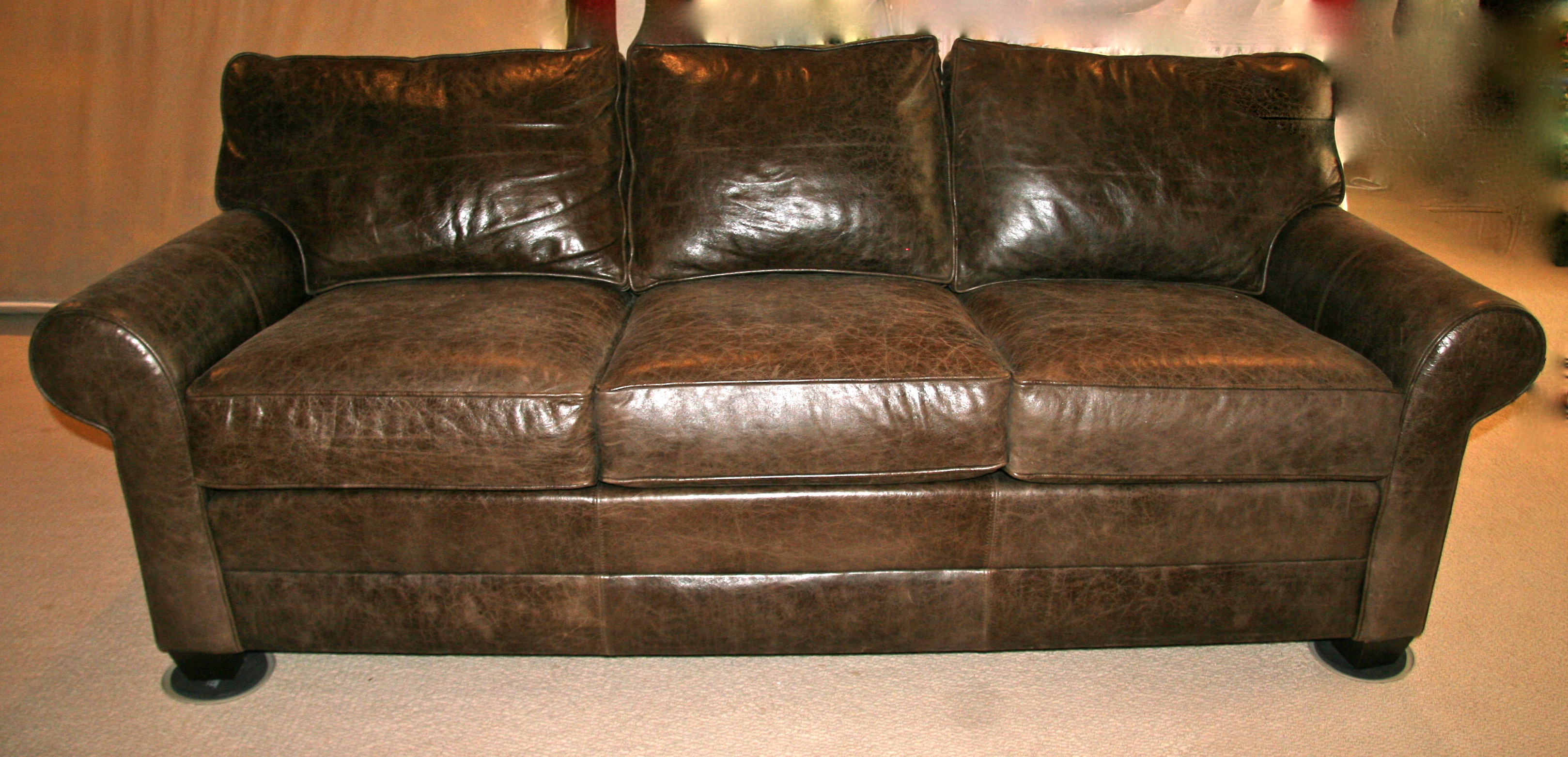 Brown Leather Ethan Allen Sofa | Goodstuffcheapstl\'s Blog